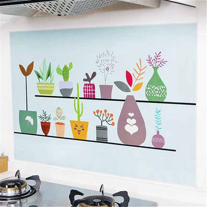 Kitchen Anti-oil Wall Stickers High temperature Paste Self-adhesive[Qiqimall] | Shopee Indonesia