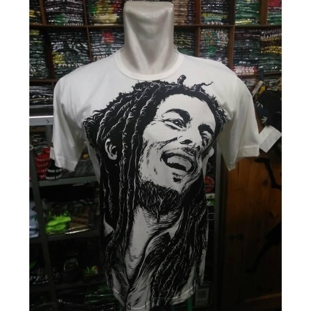 Kaos Bob Marley Wajah Hitam Putih Shopee Indonesia