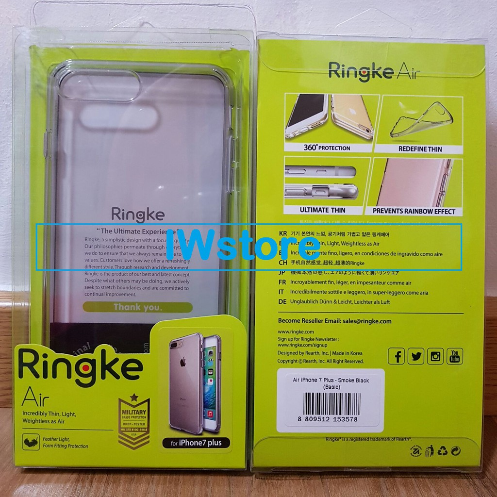 Rearth Iphone 7 Plus Air Ink Black Shopee Indonesia Slim Gloss