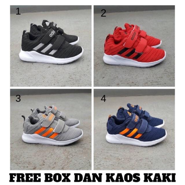 Sepatu Anak Import Adidas Sekolah Hitam Shopee Indonesia