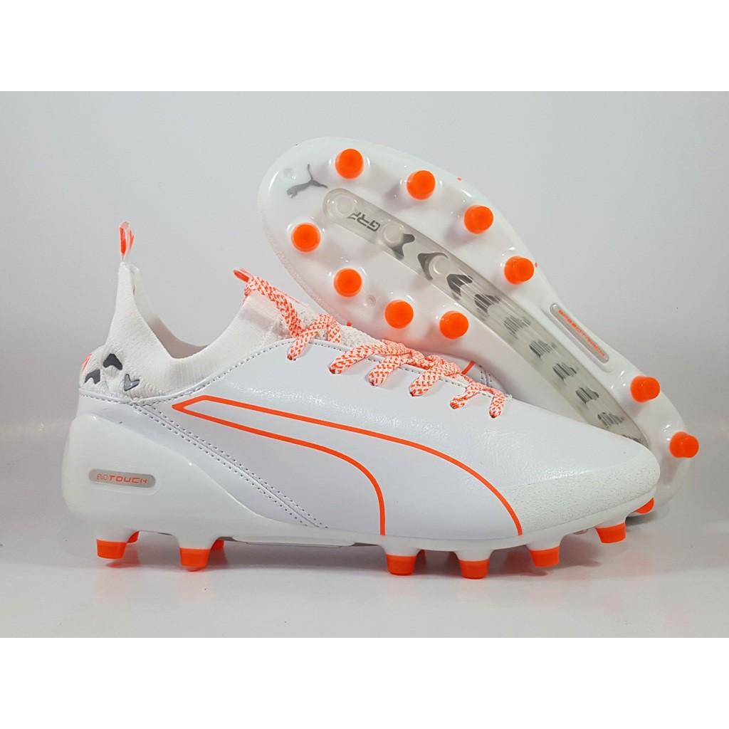 Sepatu Bola Puma Evotouch Pro White Orange Ag Replika Impor