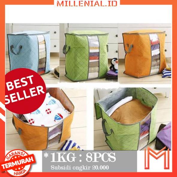 storage bag box tinggi organizer penyimpanan baju selimut sprei   Shopee Indonesia