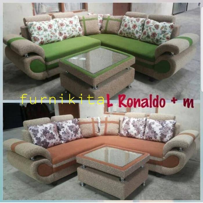 Desain Ruang Tamu Tanpa Kursi  sofa ruang tamu l minimalis tipe ronaldo plus meja