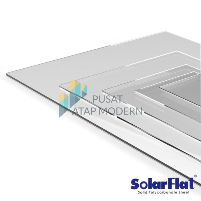 Solarflat Polycarbonate 3mm Solid Jne Trucking Shopee Indonesia