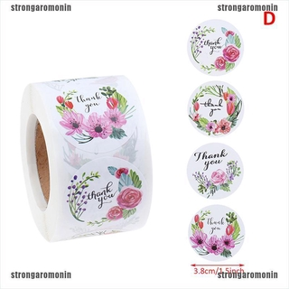 Nin2 500pcs Roll Thank You Stickers For Seal Labels 1 5 Inch Gift Packaging Stickers Shopee Indonesia