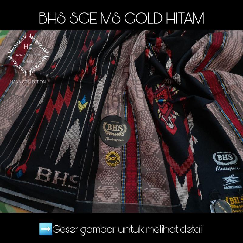 SARUNG BHS SGE MASTERPIECE MS GOLD MESRES SUTRA WARNA HITAM