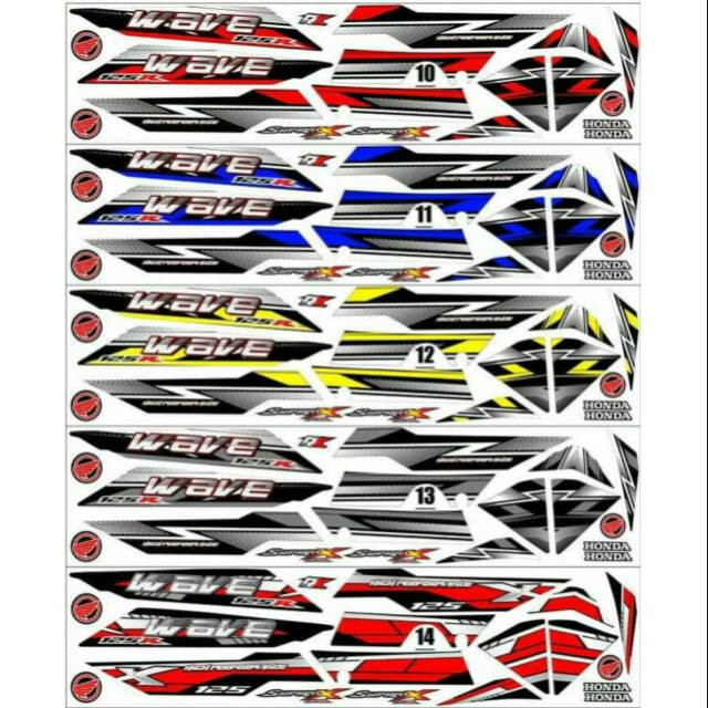 Sticker / Striping Variasi Thailand / Thailook Supra X 125 Fi (WAVE 125 R) (B)   Shopee Indonesia