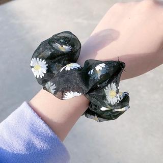 Ikat Rambut Bunga Daisy Gaya INS Korea Segar Kecil Tali Rambut Elastis Untuk Wanita 3