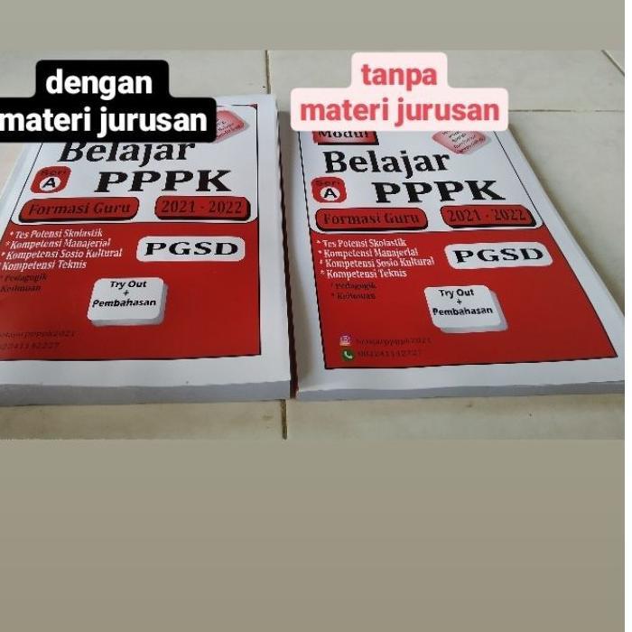 Sedang Ramai Modul Buku PPPK Guru SD PGSD 2021 BelajarPPPK CPNS ASN fahri.exhaust ..!!