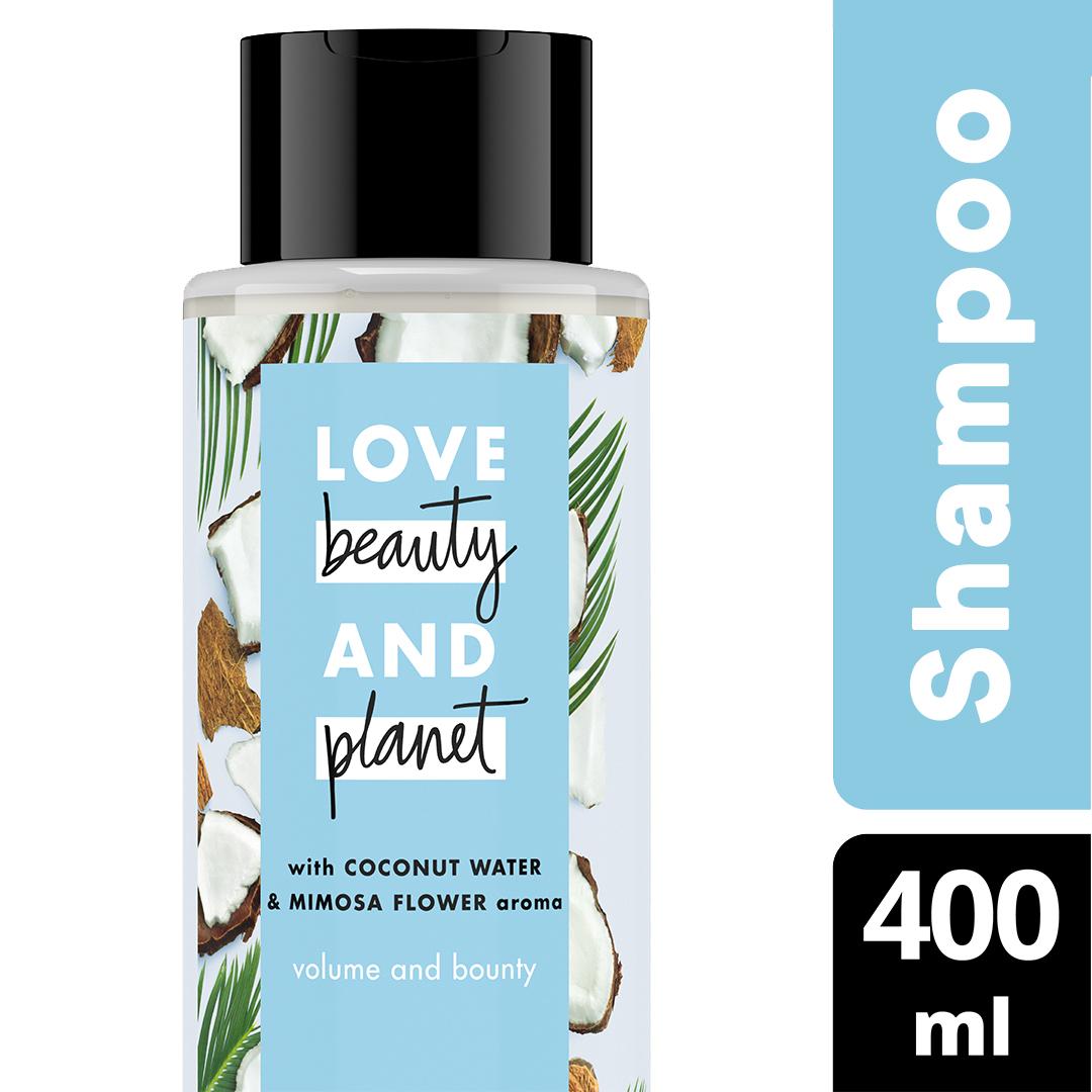 Love Beauty And Planet Shampoo Coconut Water & Mimosa Flower 400 Ml - Perawatan Rambut Lepek