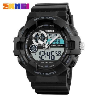 Jam Tangan Pria Anti Air Dual Time Digital Murah Terbaru Sporty Gshock Dziner Lasebo Qnq Rolex | Shopee Indonesia