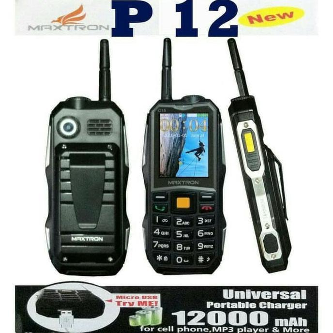 Maxtron P12/C15 Battery 12000mAh - Hp Powerbank Mirip Prince PC -9000/Brancode