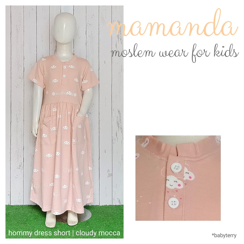 Dress Anak Cloudy Mocca Hommy Dress Short by Mamanda