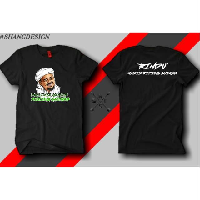 Kaos Pecinta Habib Rizieq Shihab Combed30s Hitam Pendek 100 Cotton Bonus Sticker Shopee Indonesia