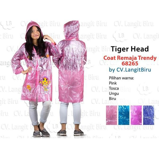 Jas Hujan COAT REMAJA FIESTA 68202 Tiger Head Mantel Teenager Rain | Shopee Indonesia