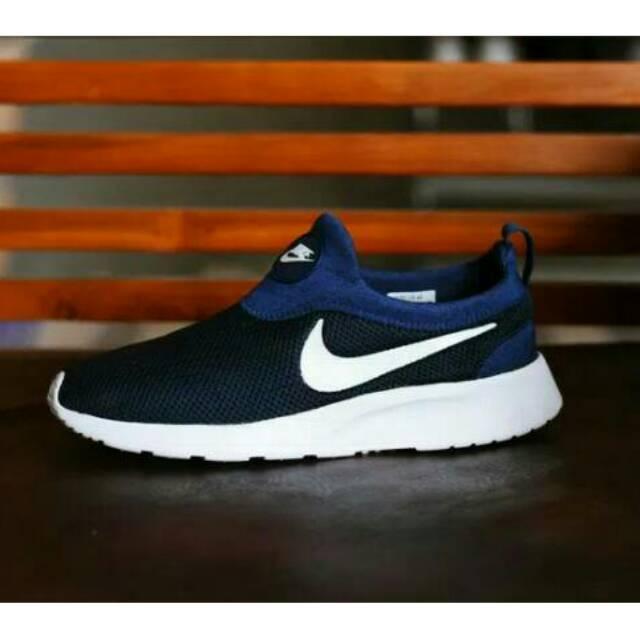 Sepatu Nike Kaishi Run Slip On Tanpa Tali Slop Cowok Cewek