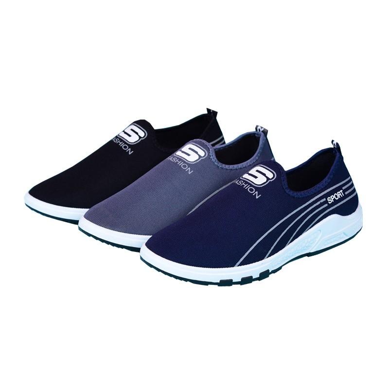 Sepatu Slip On Model Retro Casual Bahan Kanvas untuk Pria  3de765933d