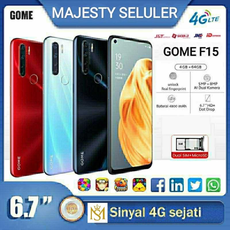 Gome F15 | HP Android Gaming RAM 4GB & ROM 64GB Jaringan 4G Smartphone 6.7