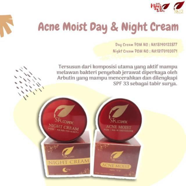 ACNE MOIST & NIGHT CREAM SR12 - MENGOBATI JERAWAT ...
