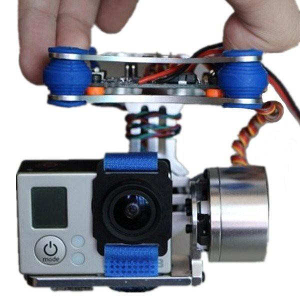 FPV 2-Axis Aluminum Brushless Camera Mount Gimbal for DJI Phantom Gopro Black