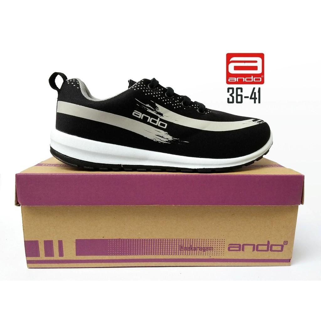 Ardiles Women Chow Sepatu Running Hitam Shopee Indonesia Abu Merah 39