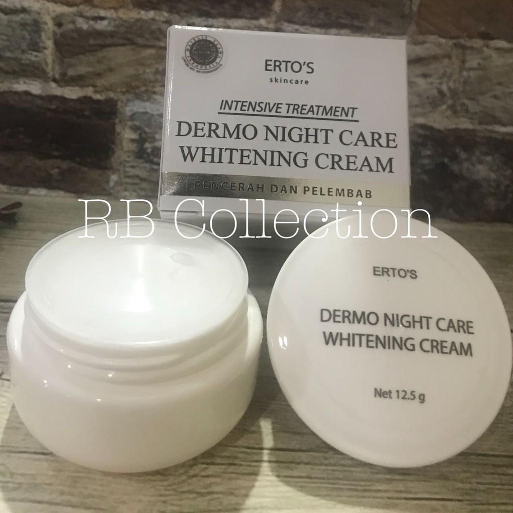 Ertos Night Cream Whitening Pencerah Dan Pelembab Shopee Paket Hemat Kekinian Facial Treatment And Indonesia