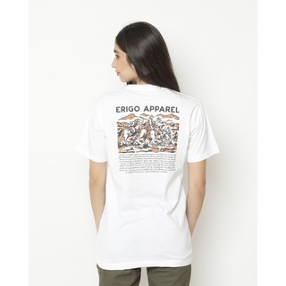 Erigo T-Shirt Geographical White