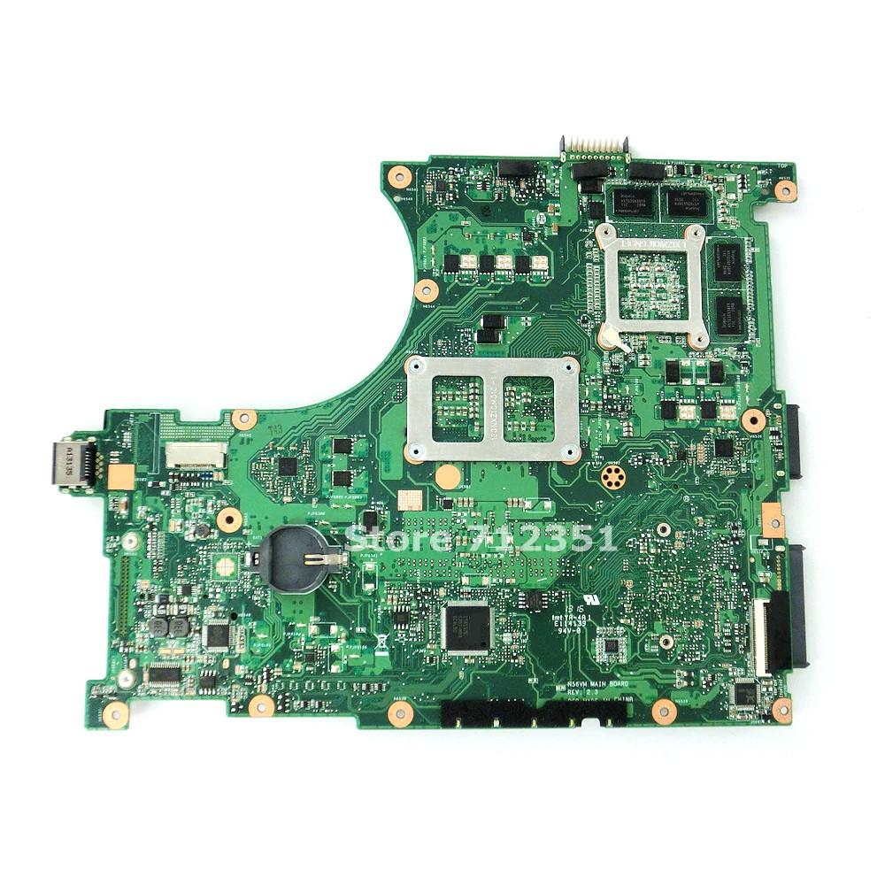For ASUS N56VZ N56VM N56VJ laptop N56VZ Motherboard REV:2.3 GT650 2GB Mainboard