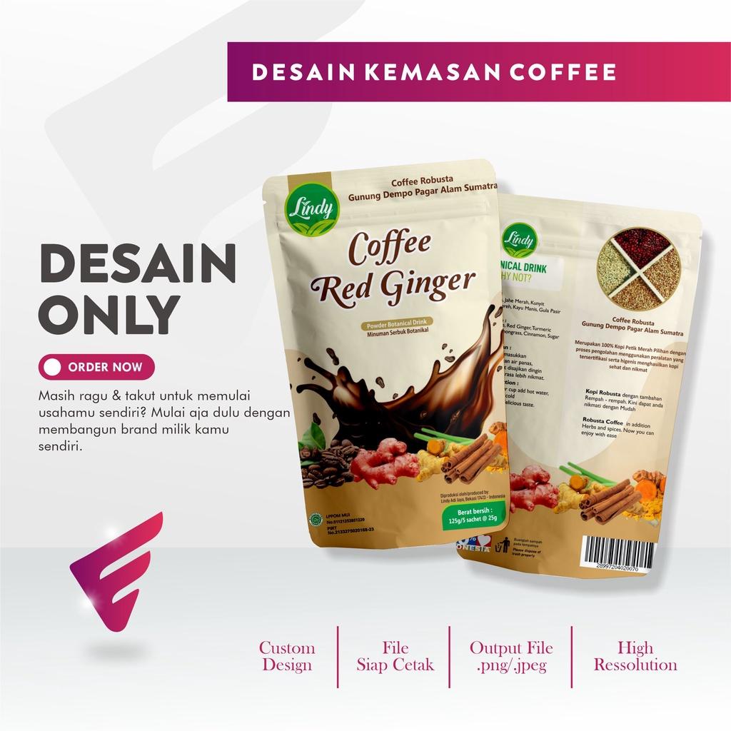 Elvida Creative Design - Jasa Desain Kemasan Profesional Standing Pouch Powder Drink Coffee