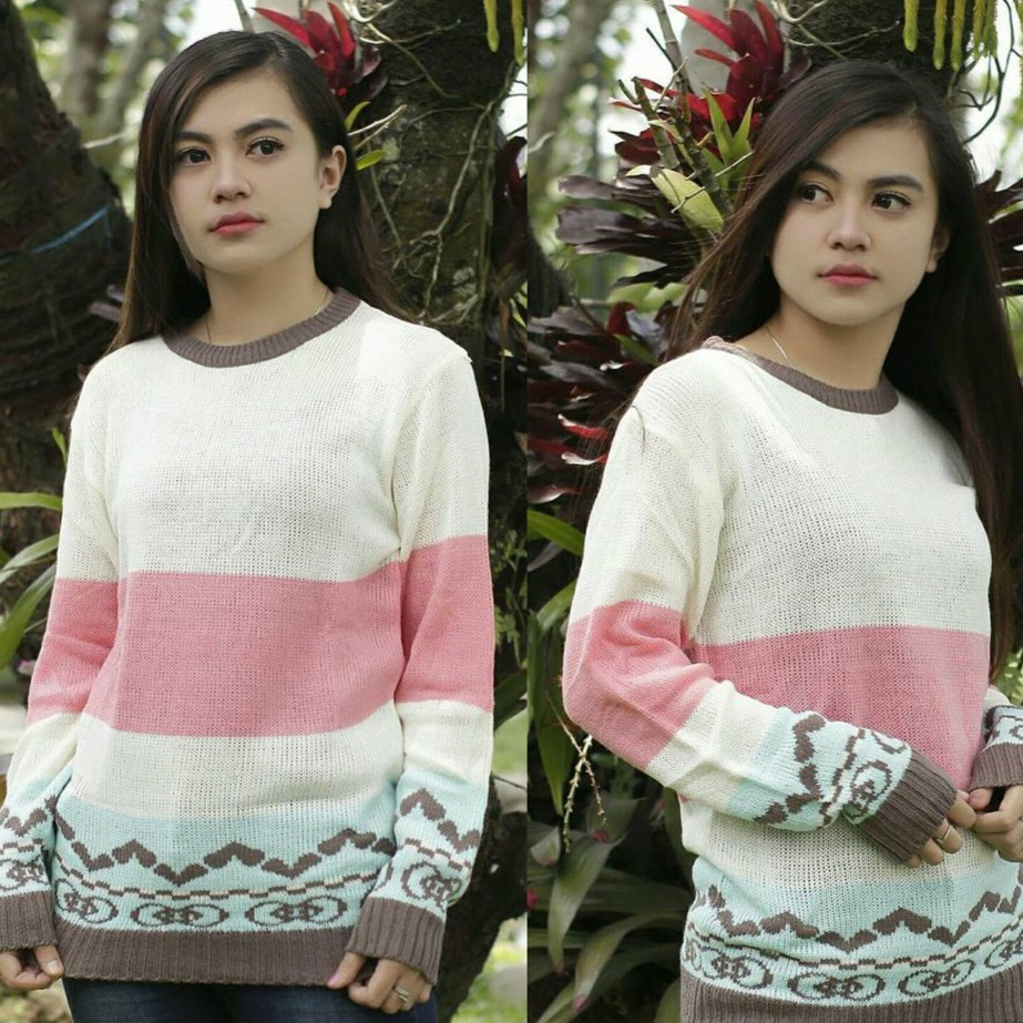 Official Diskon Sweater Rajut Murah Wanita Cewek St Roundhand Secker Sj0015 Shopee Indonesia