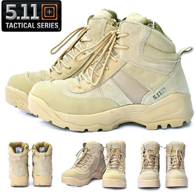Promo Sepatu 511 Tactical Hitam Boots Military 5.11 6 inch  Sepatu Outdoor  Gunung  d81aef58cf