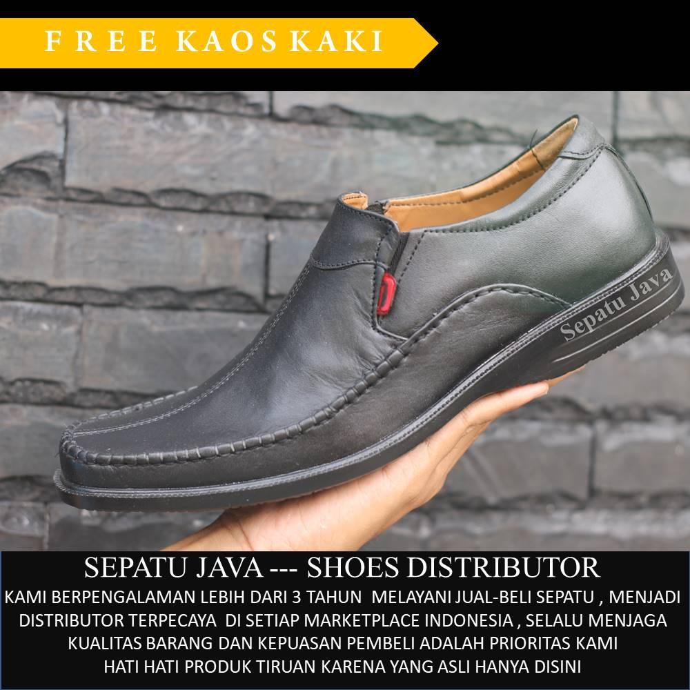 Unik Sepatu Pria Pantofel Formal Sepatu Kerja Kulit Asli Model LV 076HT  Hitam 38 Murah  5ed7407fc2