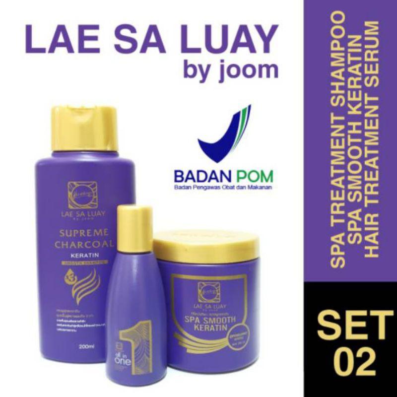 Lae Sa Luay Hair Spa Smooth Keratin Masker Rambut 100% Original / Hairmask / Shampo / Serum-1
