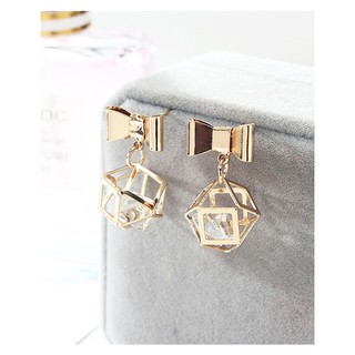 LRC Anting Tusuk Fashion Gold Color Pure Color Decorated Earrings