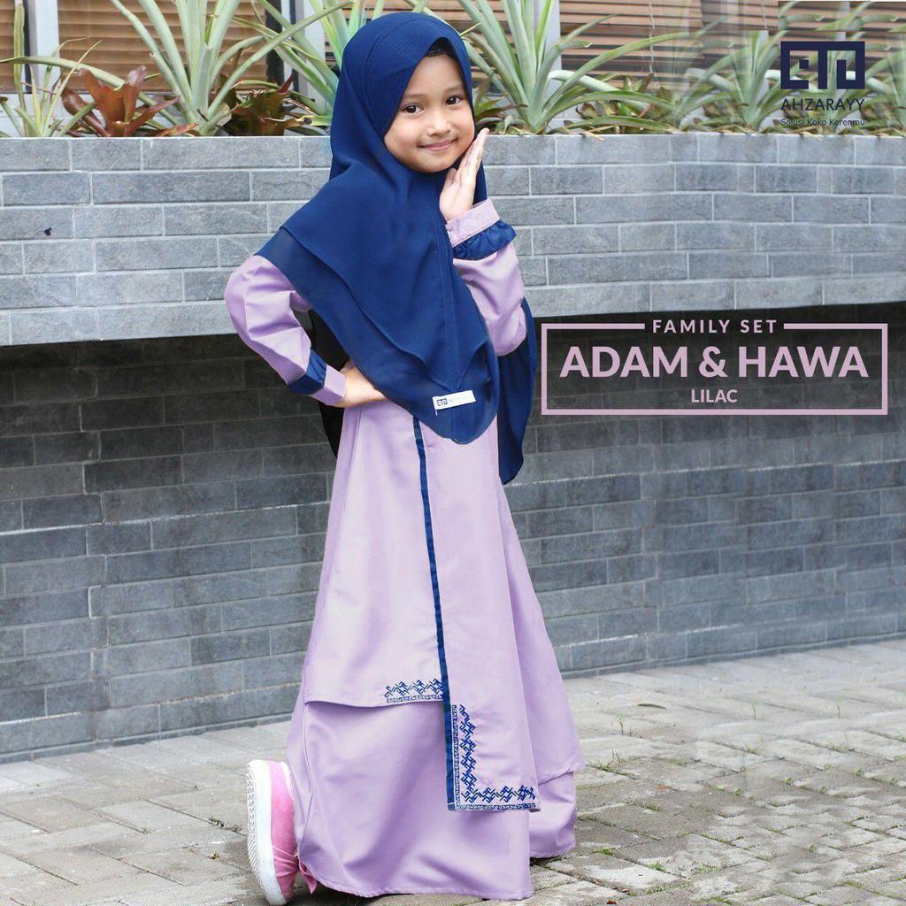 Gamis Baby dan Kids Hawa Series Warna Lilac Original by Ahzarayy