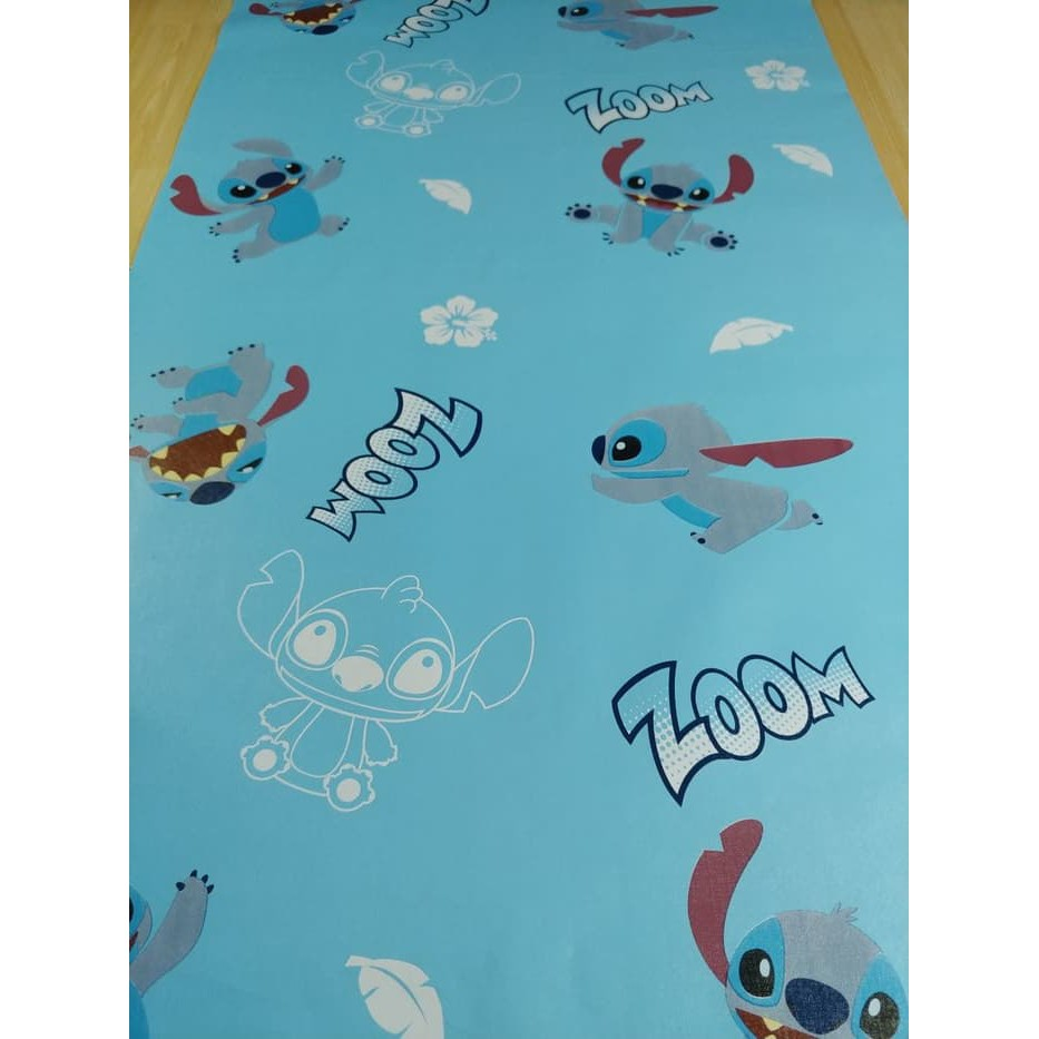 Kdd220 Wallpaper Stitch 45cm X 10mtr Wallpaper Dinding