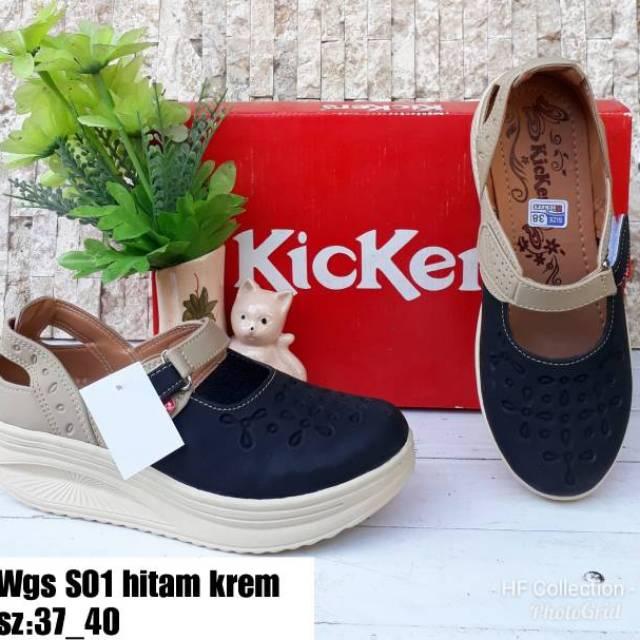 Sepatu Wanita Sepatu Kickers Sepatu Sandal Wanita Shopee