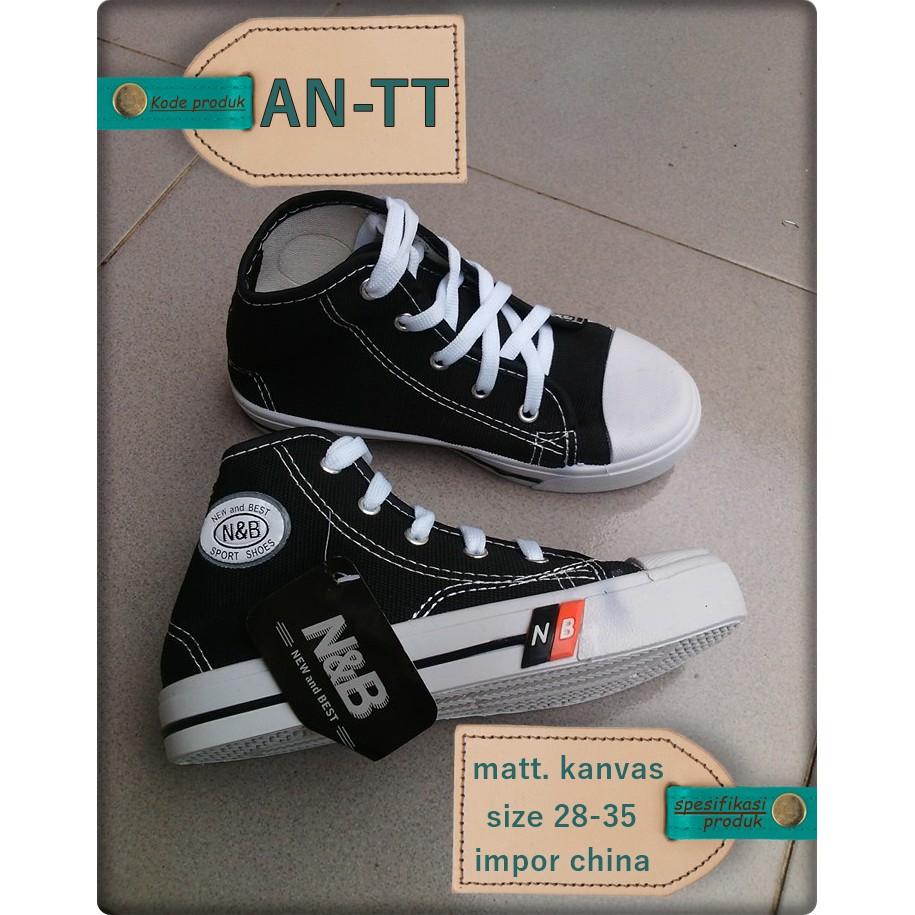 An Tt Sepatu Sekolah Anak Tk Sd Smp Murah Model Boot Warior Tali