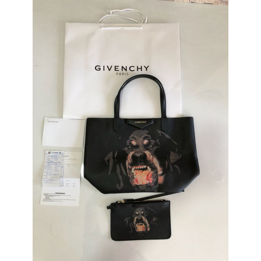 abe7ed00662d Tas Givenchy Antigona Shopping Tote Medium POLKADOT HITAM Mirror 2018