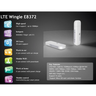 Modem Wifi Dongle ( Wingle ) Huawei E8372 4G LTE Wifi USB