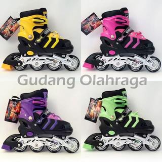 GO180 Sepatu Roda BAJAJ + Deker   Pelindung Inline Skate Satu Set ... a4e4ecd57a