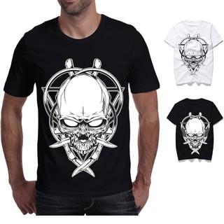 Kaos T-Shirt Casual Mewah Gambar Tengkorak 3D  Shopee Indonesia