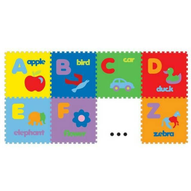 B2B741 Matras anak bayi Evamat (bahan eva sponge) / edumats abjad gambar