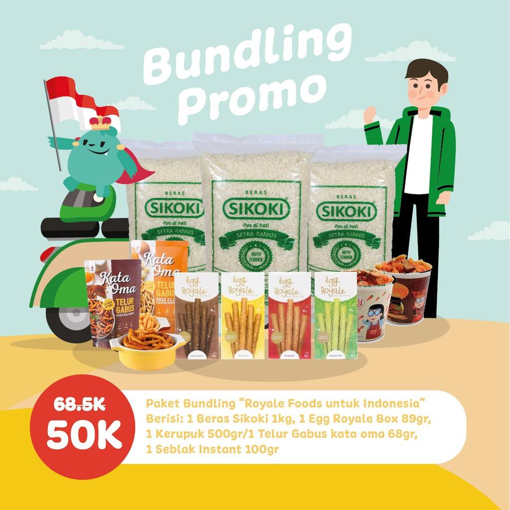 Promo Paket Sembako Untuk Ojol Bersama Royale Foods Beras Makanan Instant Sembako Snack Cemilan