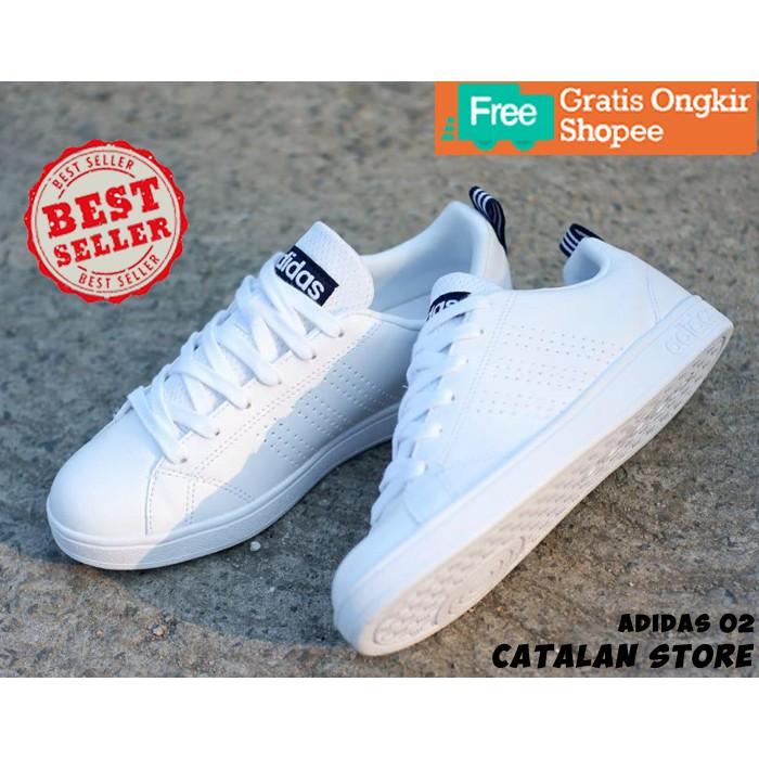 Sepatu Adidas Wanita Perempuan Cewe Cewek Neo Advantage Putih