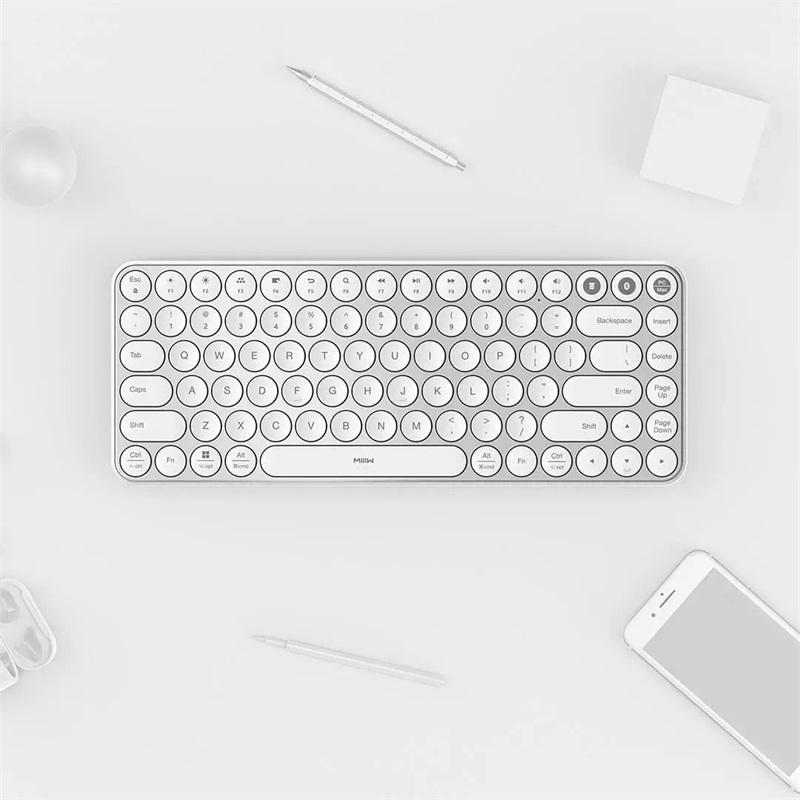 Xiaomi Youpin Miiiw Keyboard Bluetooth Nirkabel Mode Ganda 2 4ghz Hitam Shopee Indonesia