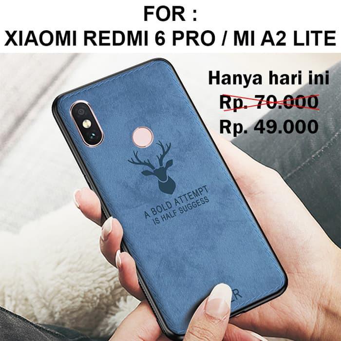 Deer case Xiaomi Redmi 6 Pro / Mi A2 Lite Leather Softcase Back Cover Motif Rusa