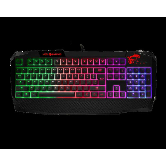 Msi Vigor Gk40 Gaming Keyboard Mechanical Feel Keyboard Gaming Aksesoris Pc Gaming Shopee Indonesia