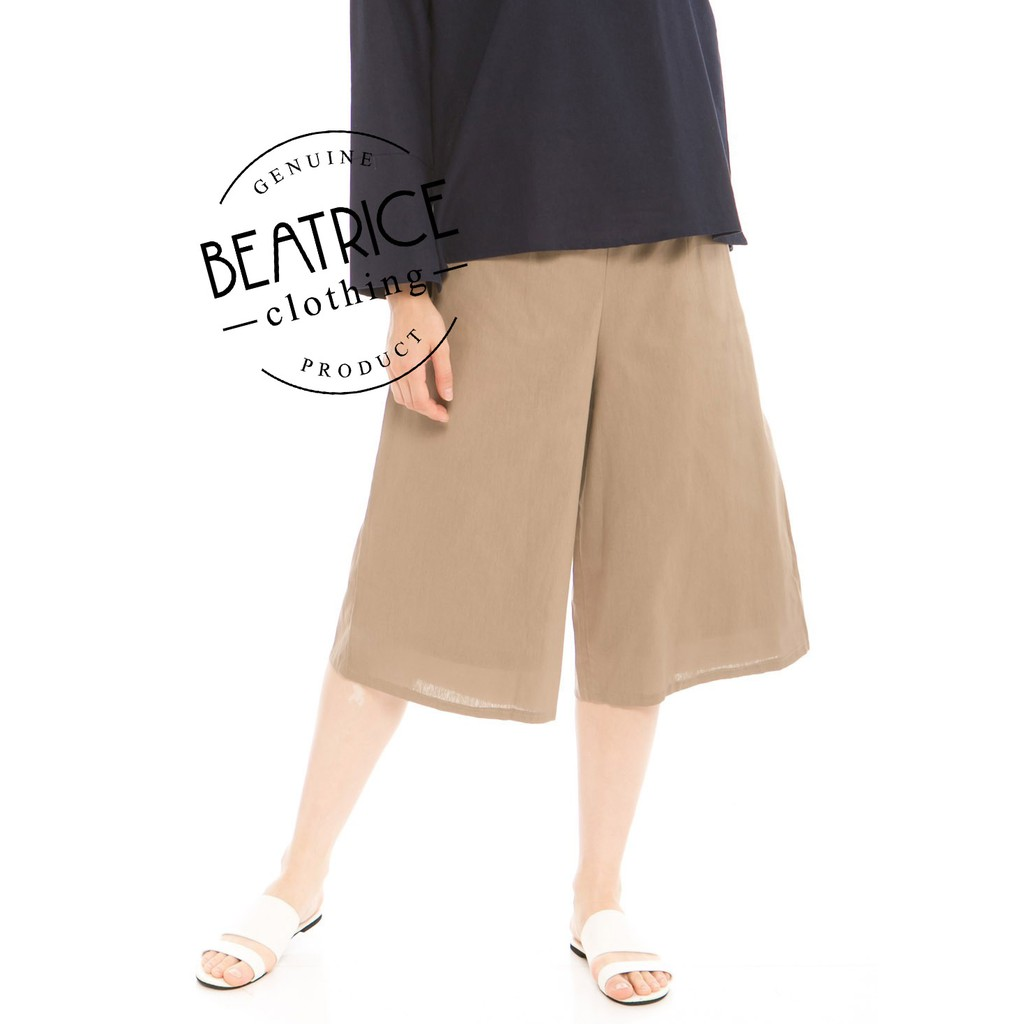 Fashion Beatrice Clothing Daftar Harga Duapola Nude Stripped Kulot Pants Navy November 2018