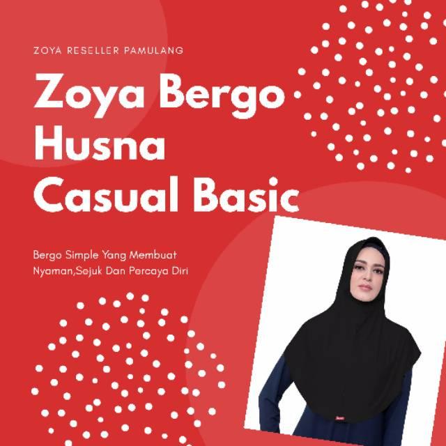 Zoya Bergo Husna Casual Basic Shopee Indonesia
